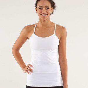 Lululemon Power Y Tank top white shirt, size 6